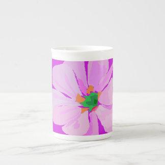 A Single Pink Flower Tea Cup