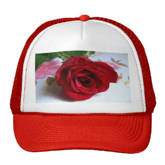 A Single Red Rose Hats