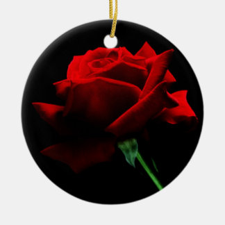 A Single Red Rose Ornament