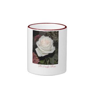 A Single Rose - Customized Ringer Mug