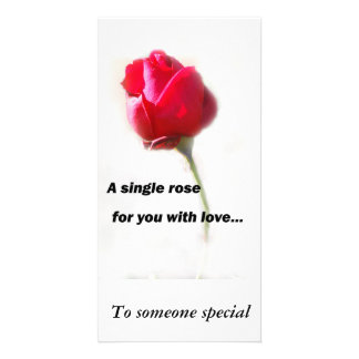 A single rose for you with love..., To someone ... Card
