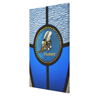 A single Seabee logo Canvas Print