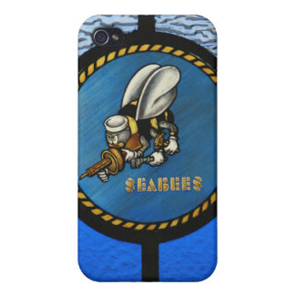 A single Seabee logo Case For iPhone 4