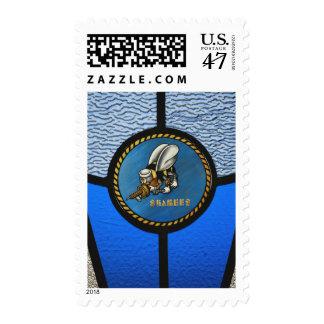 A single Seabee logo Postage