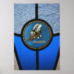 A single Seabee logo Poster