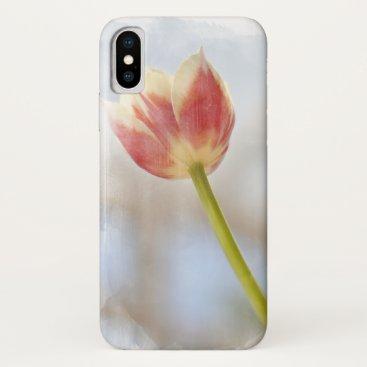 A single stem tulip flower iPhone XS case