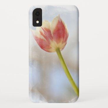A single stem tulip flower phone case