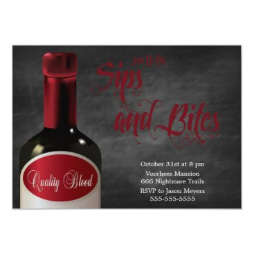 bwmedia A Sip And A Bite Halloween Party Invitation