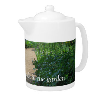 A sip of Tea and a walk in the garden by bbillips Teapot