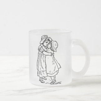 A Sister Is A Friend Forever Frosted Glass Mug