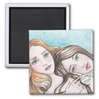 A Sister's Love Art Magnet