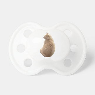A sitting cat baby pacifiers