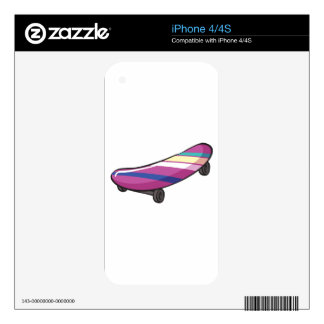 A skateboard iPhone 4S decal