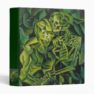 A Skeleton Embracing A Zombie Halloween Horror 3 Ring Binder