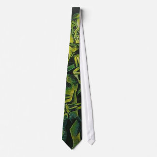 A Skeleton Embracing A Zombie Halloween Horror Neck Tie