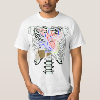 a skeleton_front dot t heart lever T-Shirt