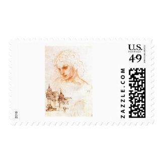 A sketch for Leonardo da Vinci s Last supper Postage Stamps