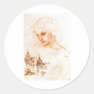 A sketch for Leonardo da Vinci's Last supper Classic Round Sticker