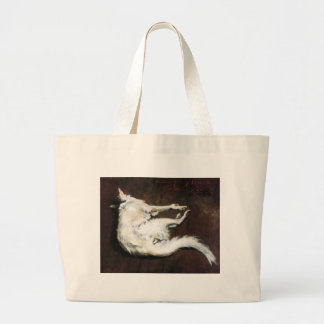 A Sketch of My Hound Kuttie William Merritt Chase Large Tote Bag