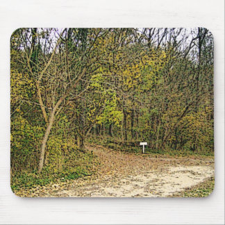 A Sketched Autumn's Day Hiking Trail Mouse Pad