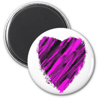 A Sketchy Heart 2 Inch Round Magnet
