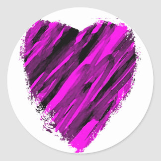 A Sketchy Heart Classic Round Sticker