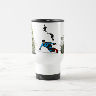 A Skiers stainless steel Travel Coffee Cup