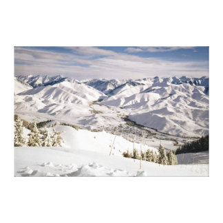 A Skiers View from the Top of Bald Mountain Canvas Print