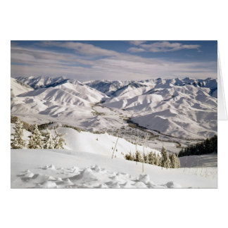 A Skiers View from the Top of Bald Mountain Greeting Card