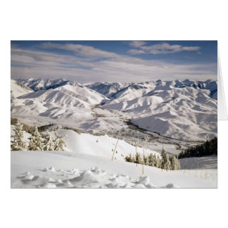 A Skiers View from the Top of Bald Mountain Stationery Note Card