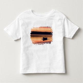 A skiff at sunrise in Eggemoggin Reach in Little Toddler T-shirt