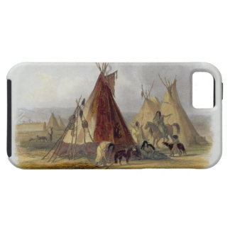 A Skin Lodge of an Assiniboin Chief, plate 16 from iPhone SE/5/5s Case