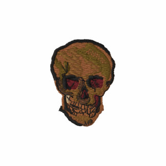 A Skull by Vincent van Gogh Embroidered Hoodie