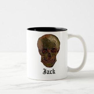 A Skull by Vincent van Gogh Two-Tone Coffee Mug
