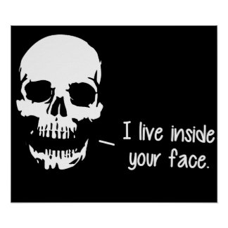 A Skull Lives Inside Your Face Poster