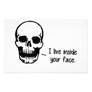 A Skull Lives Inside Your Face Stationery
