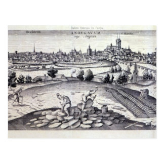 A Slate Quarry in Angers, 1561 Postcard