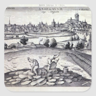 A Slate Quarry in Angers, 1561 Square Sticker