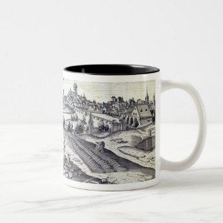 A Slate Quarry in Angers, 1561 Two-Tone Coffee Mug