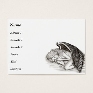 A sleeping Angel , black and white Business Card