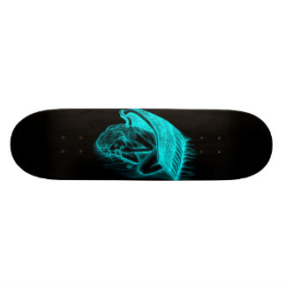 A sleeping Angel Skateboard Deck