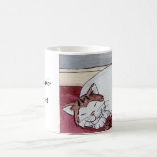 A Sleeping Cat is a Happy Cat! Classic White Coffee Mug