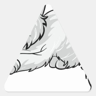 A sleeping cat triangle sticker