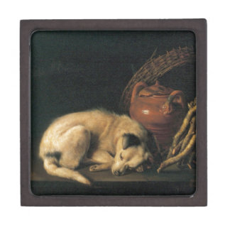 A Sleeping Dog with Terracotta Pot by Gerrit Dou Jewelry Box