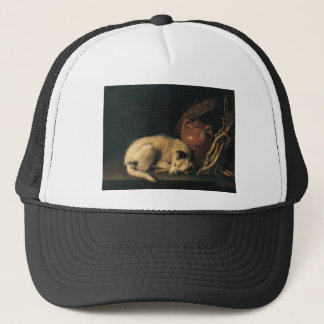 A Sleeping Dog with Terracotta Pot by Gerrit Dou Trucker Hat