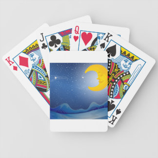 A sleeping moon bicycle playing cards