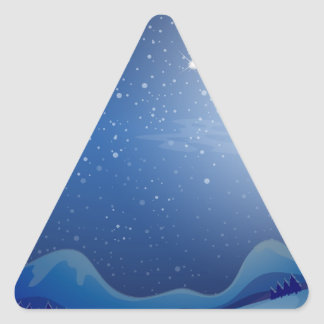 A sleeping moon triangle sticker