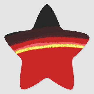 a Slice of Colors Star Sticker