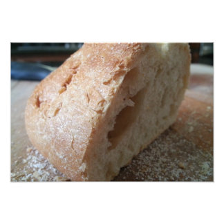 A slice of french bread photo print