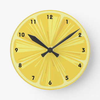 A Slice of Lemon Round Wall Clock